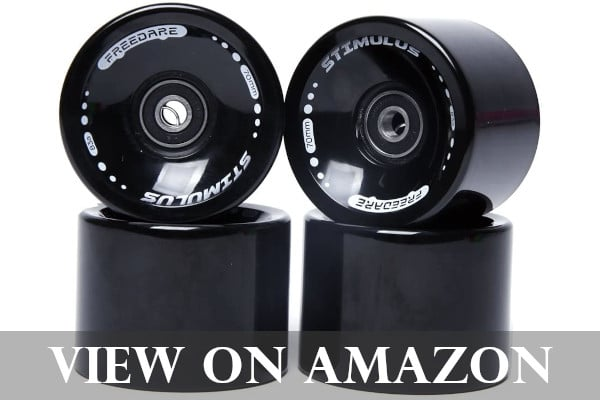 FREEDARE Longboard Wheels with Bearings and Spacers